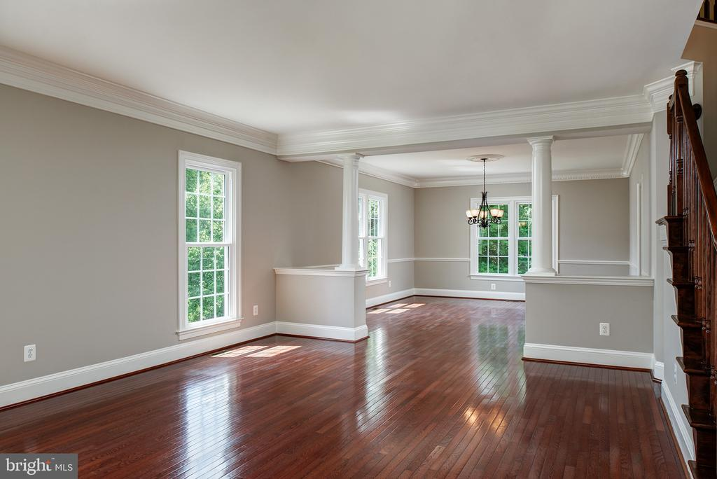 Hardwood, moldings, and open spaces for gatherings - 42428 HOLLY KNOLL CT, ASHBURN