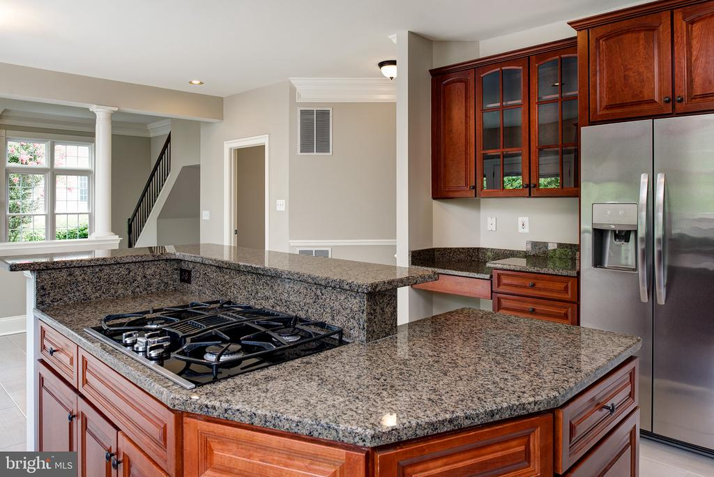 Gas cook top and room for bar stools - 42428 HOLLY KNOLL CT, ASHBURN