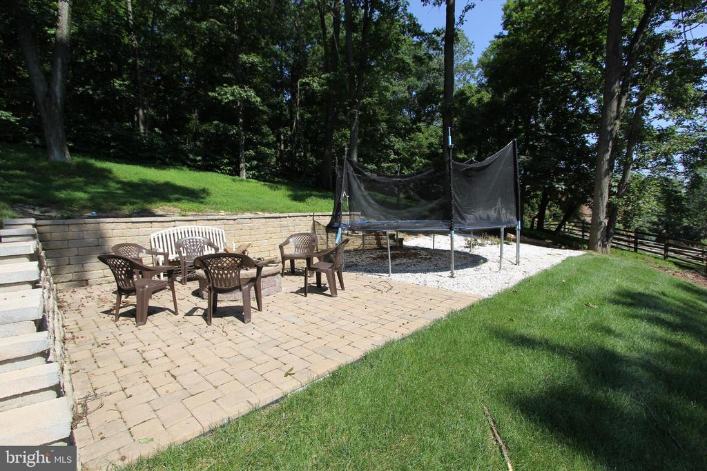 Custom, terraced recreation area with fire pit - 5520 BOOTJACK DR, FREDERICK