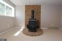 Recreation room has new wood stove - 5520 BOOTJACK DR, FREDERICK