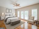 Master Bedroom with private deck - 32420 GADSDEN LN, LOCUST GROVE