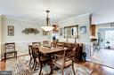 Dining Room off of Kitchen - 20938 SANDSTONE SQ, STERLING