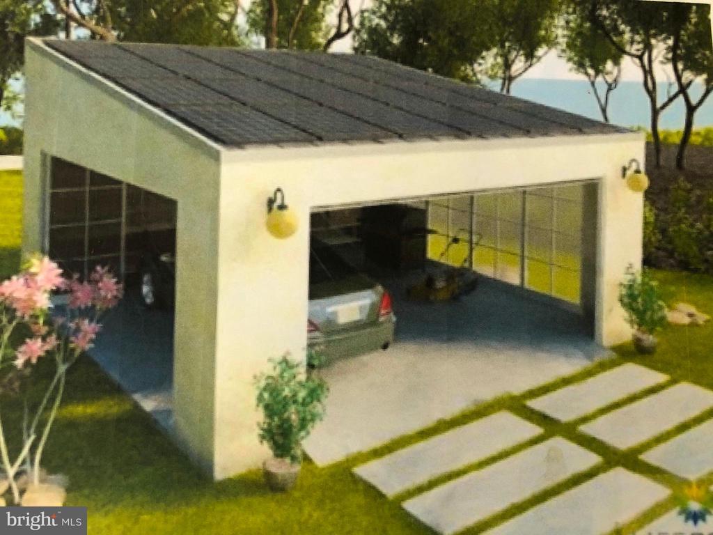 Digital rendering: planned solar powered carport. - 13814 ALDERTON RD, SILVER SPRING