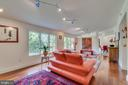 Living room is long and wide, airy and open - 13814 ALDERTON RD, SILVER SPRING