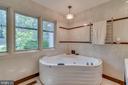 Porcelanosa Jacuzzi Pool in Owner's bath. - 13814 ALDERTON RD, SILVER SPRING