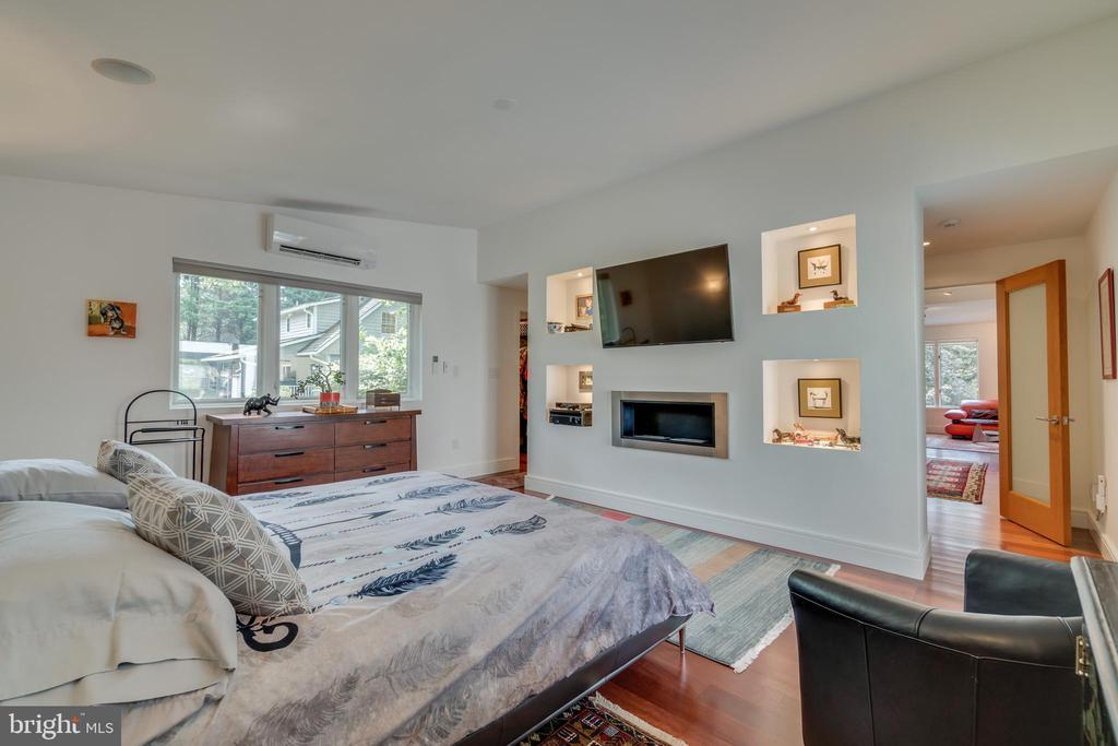 Main floor Owner's Suite: fireplace, built ins.... - 13814 ALDERTON RD, SILVER SPRING