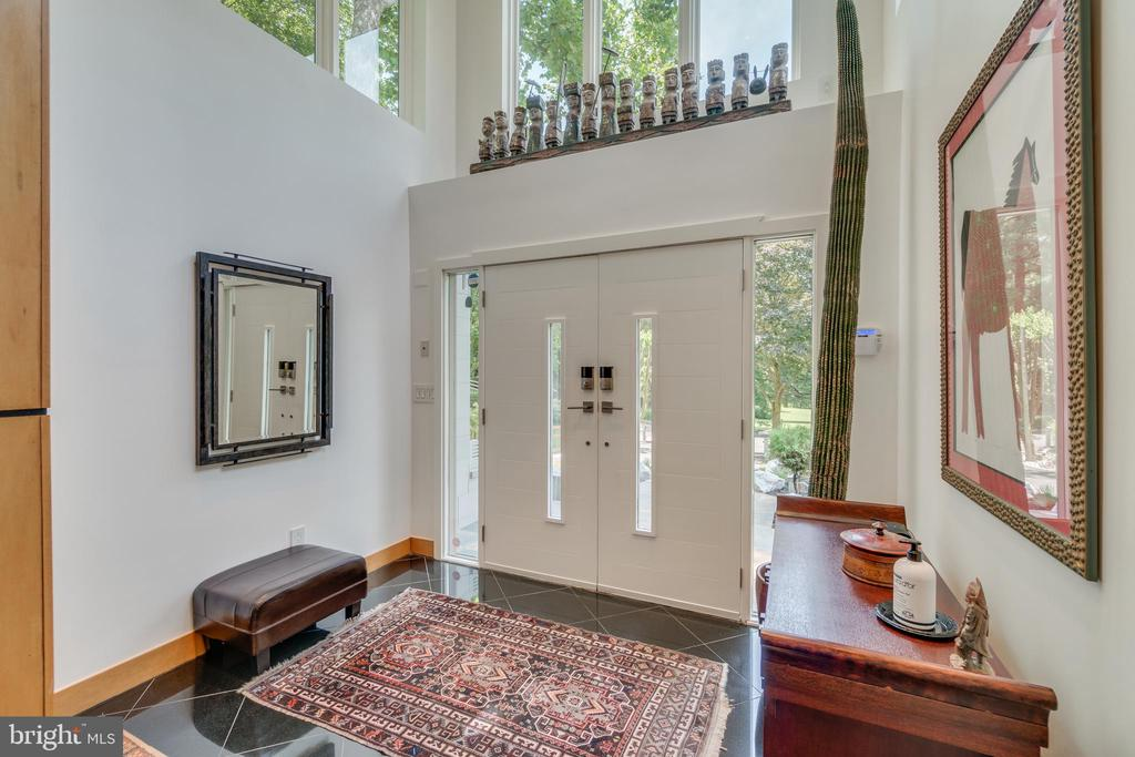 Bright airy foyer greets the day + visitors.... - 13814 ALDERTON RD, SILVER SPRING