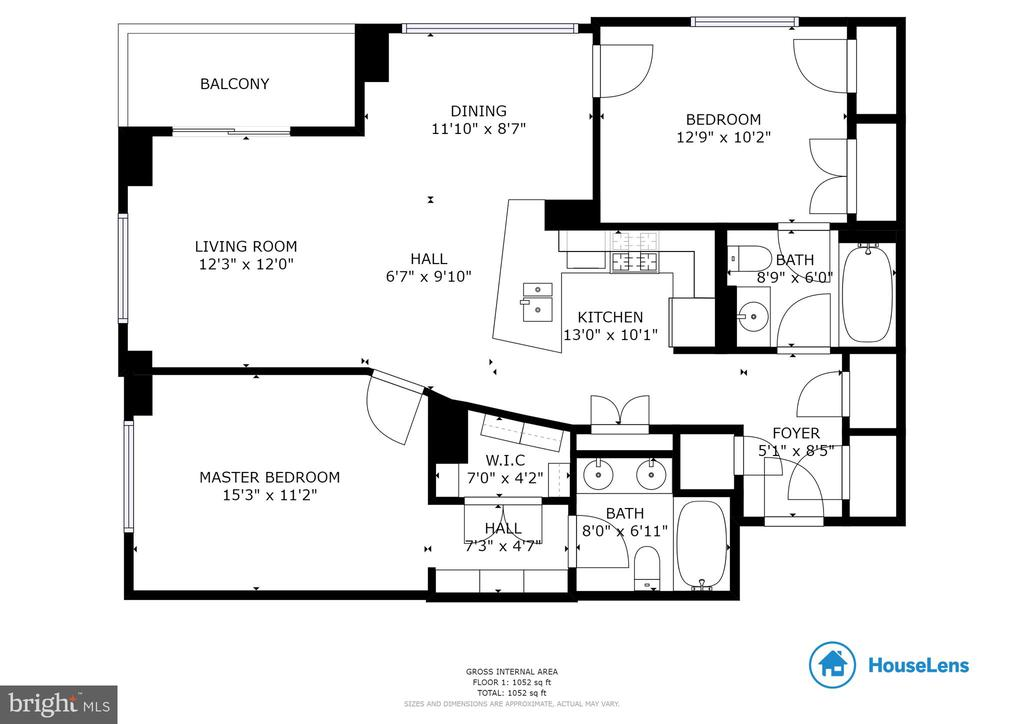 Floorplan for #603 - 820 N POLLARD ST #603, ARLINGTON