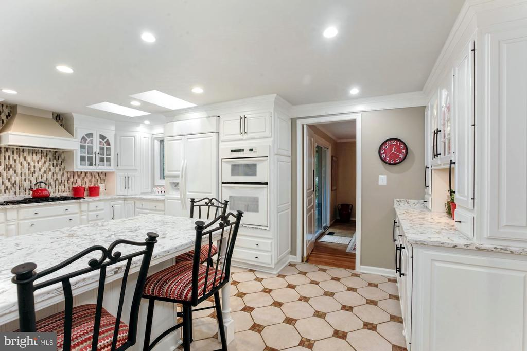 EXPANDED & REMODELED GOURMET KITCHEN - 9500 WOODSTOCK CT, SILVER SPRING