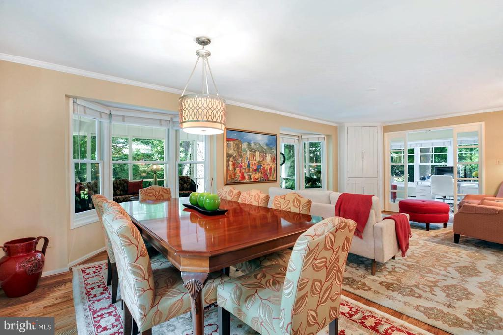 JUST OFF KITCHEN IS THE DINING AREA - 9500 WOODSTOCK CT, SILVER SPRING