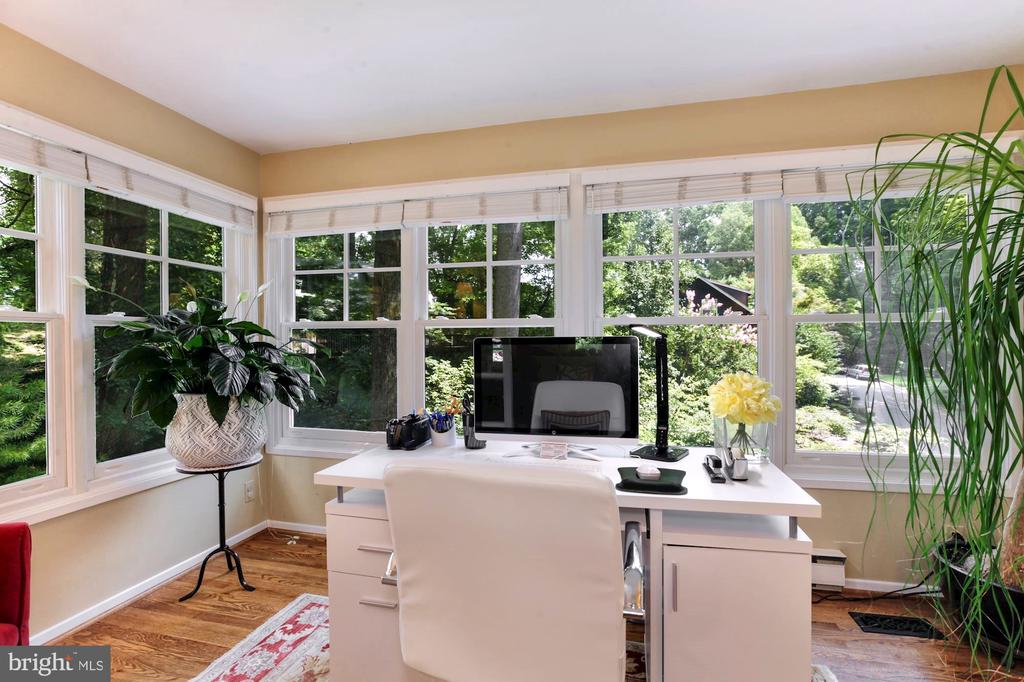 OFFICE WITH WINDOWS ON 3-SIDES & FRENCH DOORS - 9500 WOODSTOCK CT, SILVER SPRING