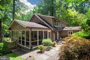BACKYARD OVERLOOKING LARGE SCREENED PORCH - 9500 WOODSTOCK CT, SILVER SPRING