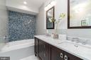 Jetted soaking  tub with Architectural Ceramics - 1845 POTOMAC GREENS DR, ALEXANDRIA