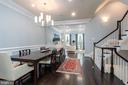 Open plan allows for beautiflul flow - 1845 POTOMAC GREENS DR, ALEXANDRIA