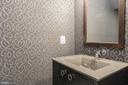Powder room with custom wallpaper, - 1845 POTOMAC GREENS DR, ALEXANDRIA