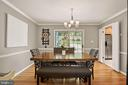 Dining Room - Chandelier - Opens to BRAND NEW DECK - 9522 BACCARAT DR, FAIRFAX