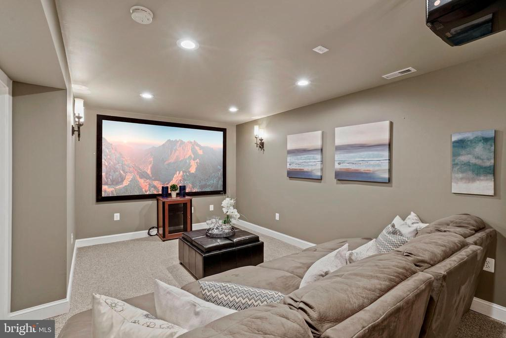 Lower Level Media Room - Chairs Convey - 4389 OLD DOMINION DR, ARLINGTON