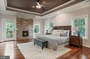 Spacious Master Bedroom with Fireplace - 4389 OLD DOMINION DR, ARLINGTON