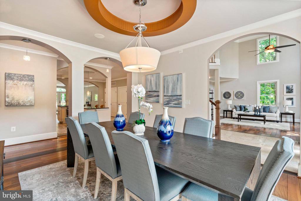 Formal Dining Room - Opens to Other Rooms - 4389 OLD DOMINION DR, ARLINGTON