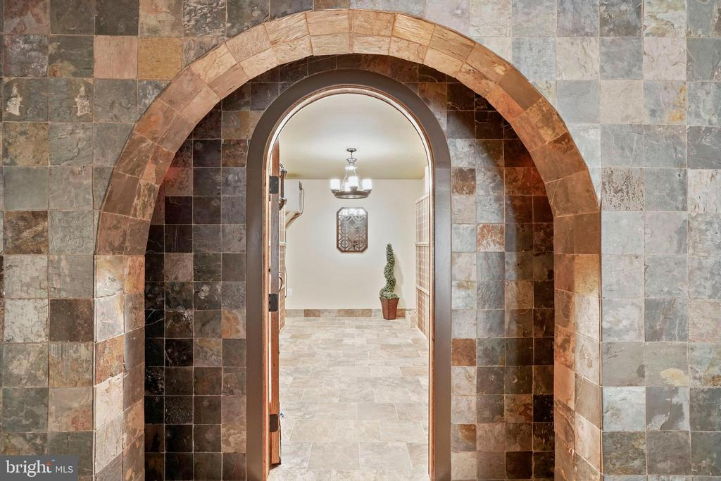 Elegant Entrance to Wine Cellar - 4389 OLD DOMINION DR, ARLINGTON