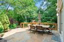 Private Patio Shrouded by Green - 4389 OLD DOMINION DR, ARLINGTON