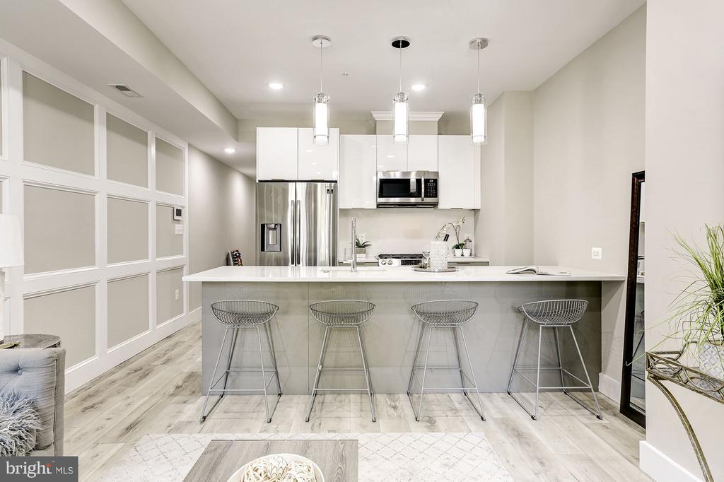Large kitchen - 1206 LONGFELLOW ST NW #2, WASHINGTON