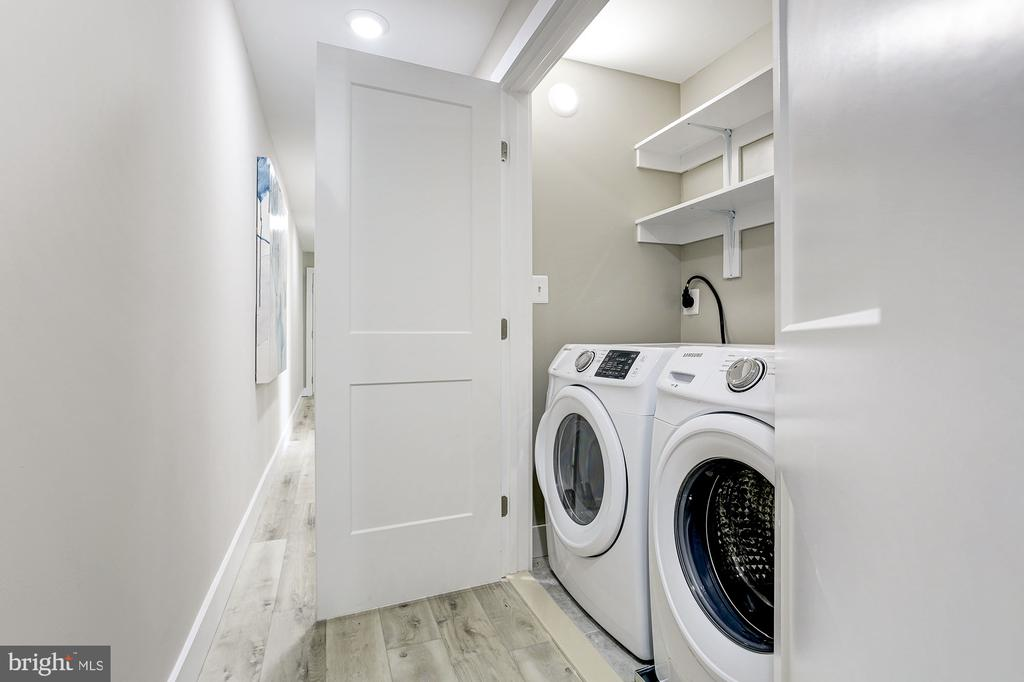 In unit laundry area! - 1206 LONGFELLOW ST NW #2, WASHINGTON