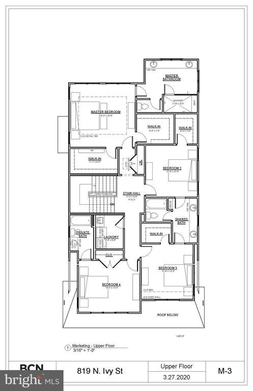 Upper Level Plan. Variations may occur. - 819 IVY ST N, ARLINGTON