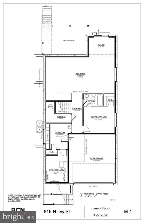 Lower Level Plan. Variations may occur. - 819 IVY ST N, ARLINGTON