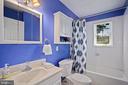 updated main level bath with vanity storage - 3616 ARLINGTON BLVD, ARLINGTON