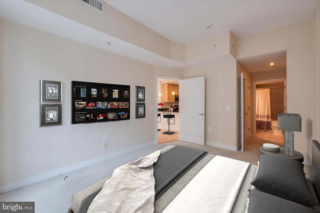 Virtually staged Owner's  Bedroom - 820 N POLLARD ST #603, ARLINGTON