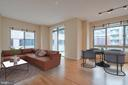 Virtually staged LR/ DR area - 820 N POLLARD ST #603, ARLINGTON