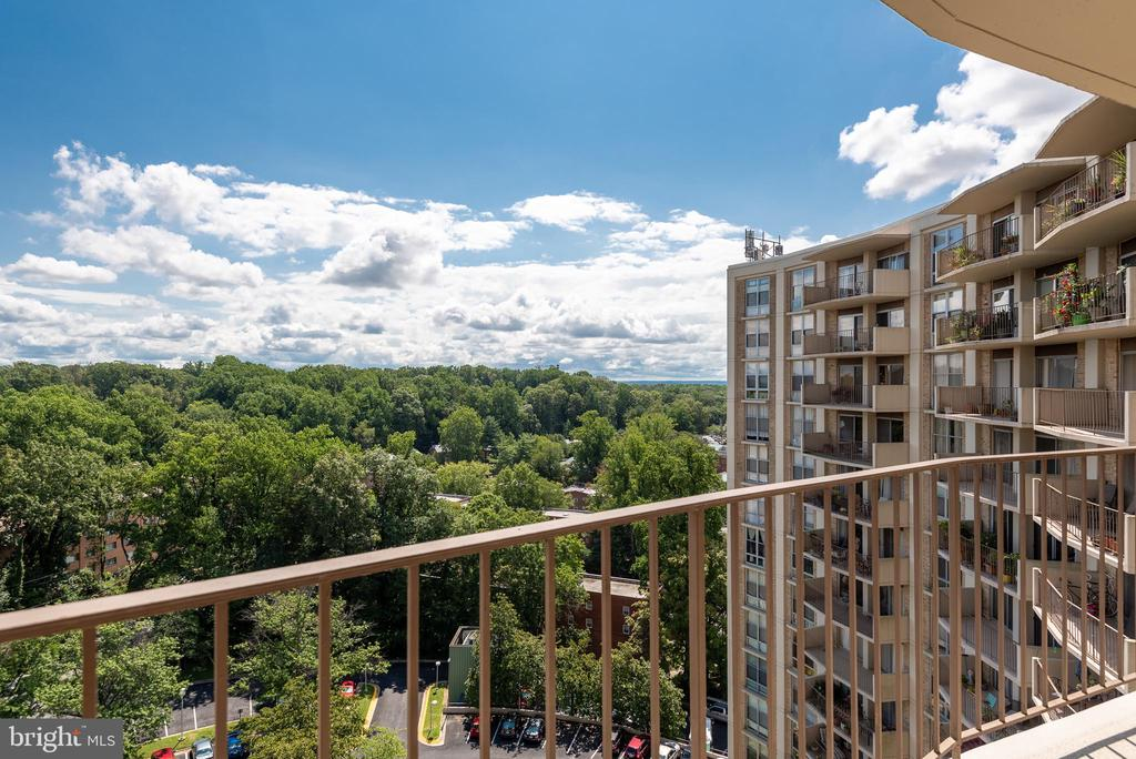 Large 16th Floor Balcony & West Facing View - 9039 SLIGO CREEK PKWY #1610, SILVER SPRING
