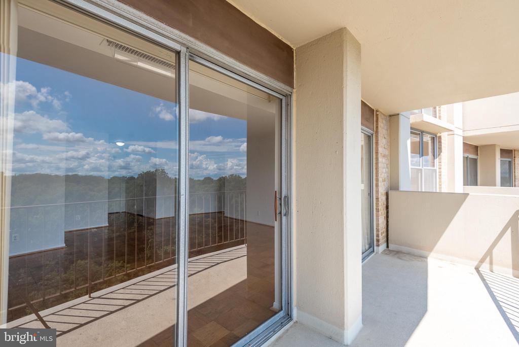 16th Floor Balcony w 2 Large Sliders - 9039 SLIGO CREEK PKWY #1610, SILVER SPRING