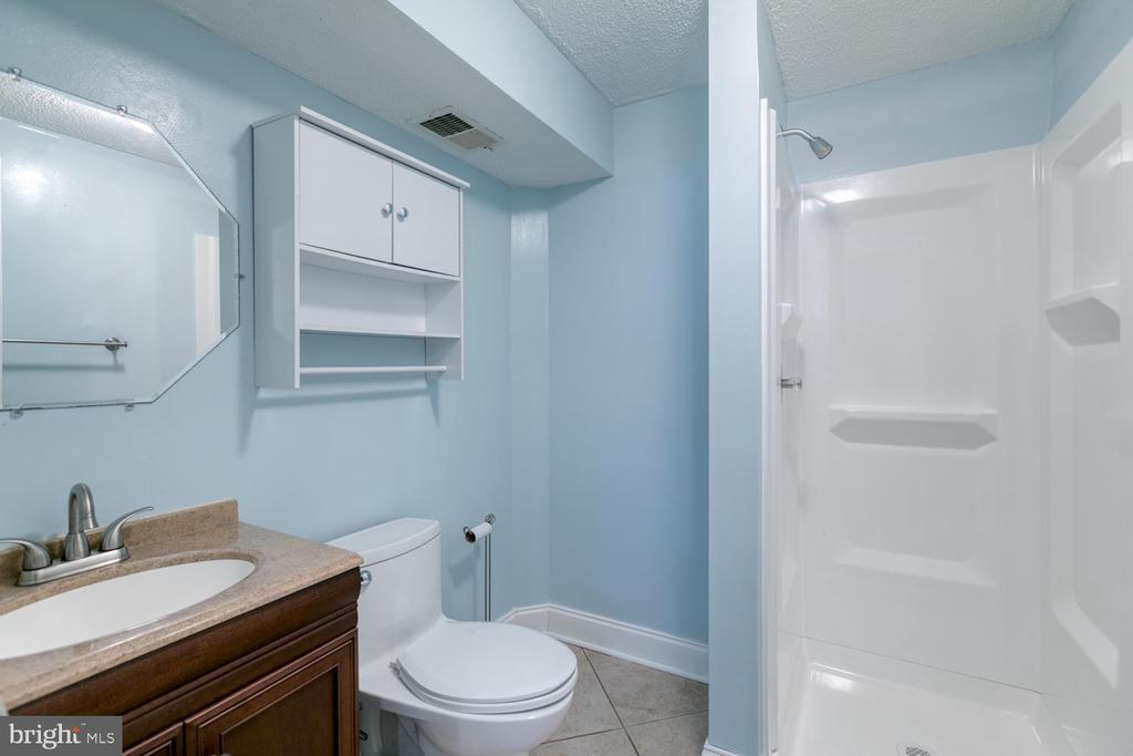 Basement full bath w/ NEW shower! - 3006 LUSITANIA DR, STAFFORD