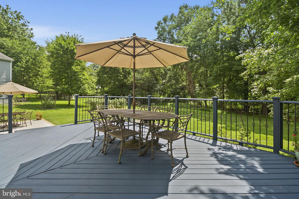 Deck perfect for entertaining outdoors - 10206 MCKEAN CT, GREAT FALLS