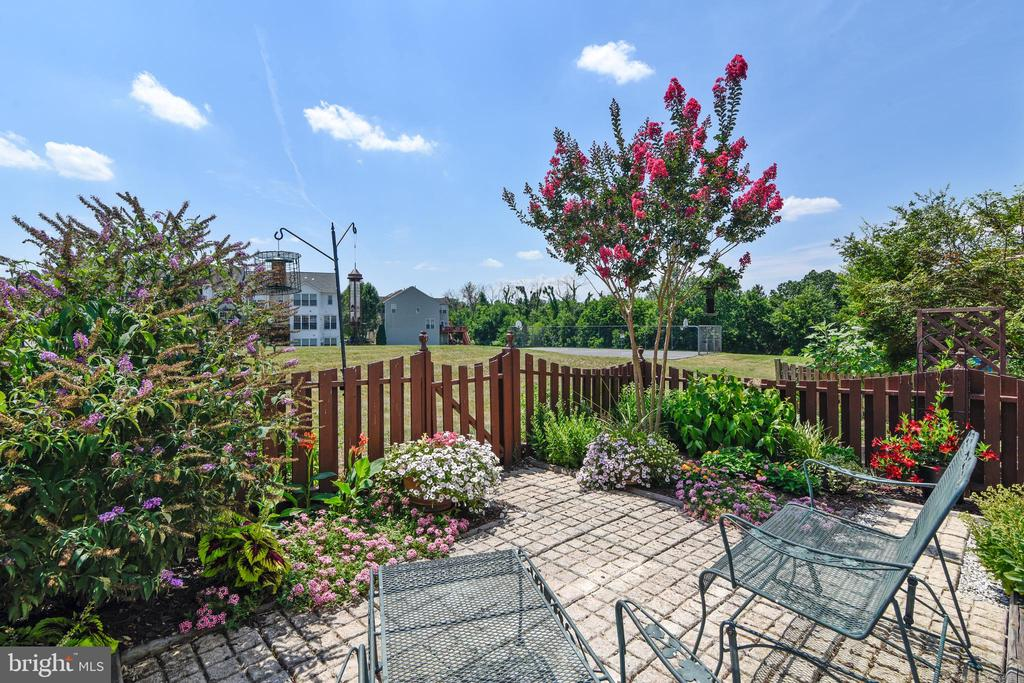 Fenced backyard that backs to common area - 43496 GREENWICH SQ, ASHBURN