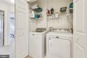 Upstairs laundry area. Washer and Dryer convey. - 43496 GREENWICH SQ, ASHBURN