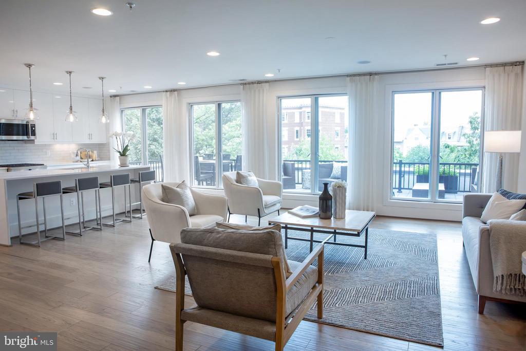 Living Area North - 645 MARYLAND AVE NE #201, WASHINGTON