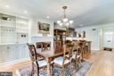 Formal dining room with built-in cabinets - 833 S FAIRFAX ST, ALEXANDRIA