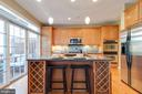 Bright Open Kitchen with deck access - 181 CAMERON STATION BLVD, ALEXANDRIA