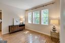 Light-filled Living Room features 3 large windows - 1741 N TROY ST #8-430, ARLINGTON