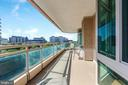 Fabulous balcony - 5630 WISCONSIN AVE #905, CHEVY CHASE