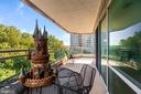 Another view of balcony - 5630 WISCONSIN AVE #905, CHEVY CHASE
