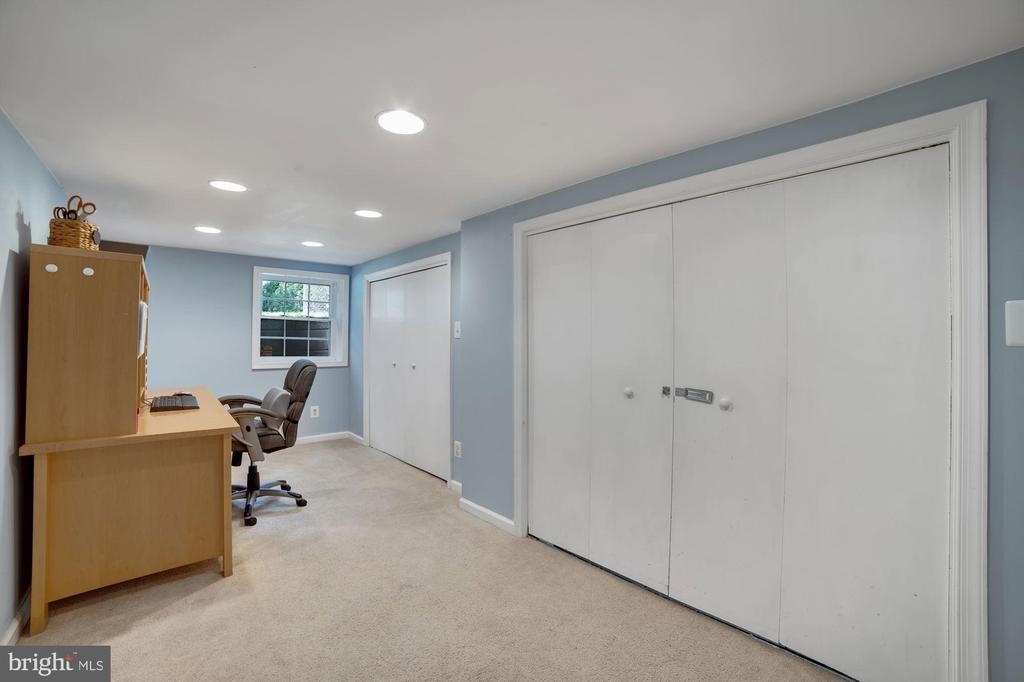 Bedroom #5 - Recess Lighting & Newer Window! - 7326 RONALD ST, FALLS CHURCH