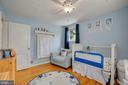 Bedroom #2 - Ceiling Fan & Overhead Lighting! - 7326 RONALD ST, FALLS CHURCH