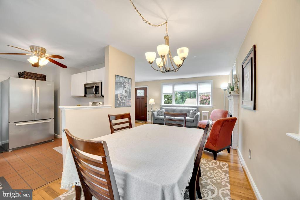 Dining Area Opens Brilliantly to Kitchen! - 7326 RONALD ST, FALLS CHURCH