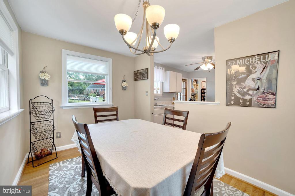 Dining Room Receives Fantastic Sunlight! - 7326 RONALD ST, FALLS CHURCH