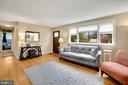 Living Room - Large Picture Window - SUNNY, SUNNY! - 7326 RONALD ST, FALLS CHURCH