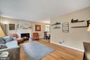 Living Room - Hardwood Floors! - 7326 RONALD ST, FALLS CHURCH